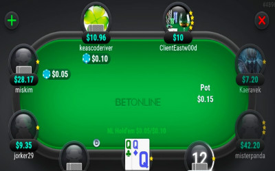 QQ strong hand - Play Poker online with Bet Online Poker