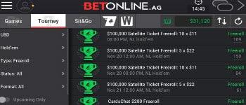 BetOnline Poker - Juegos de torneos