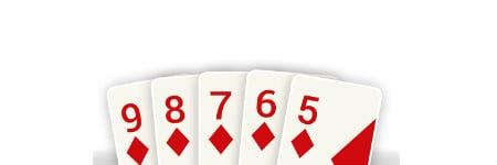 סטרייט פלאש - יד מנצחת בפוקר אונליין