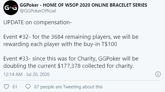 GGPoker - compensation